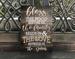 Bless This Food Family Decor Kitchen PERSONALIZE W