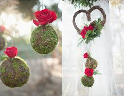 Rustic Winter Wedding Ideas Green Red Decorations