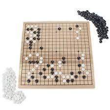 new go 18 x 18 wooden board strategy felt stones free