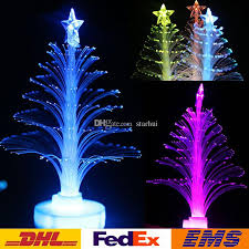 Colorful Led Christmas Tree Fiber Optic Nightlight Lamp Light Holiday Party Lighting Decoration Children Xmas Gift Wx C25 Decorations For