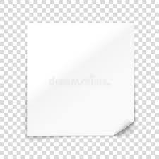 Vector Paper Sheet Isolated On Transparent Background Stock In Blank 2018