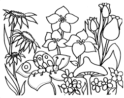 Free Coloring Pages Flowers And Butterflies Gianfreda 422835