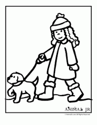 Christmas Puppy Coloring Page 4