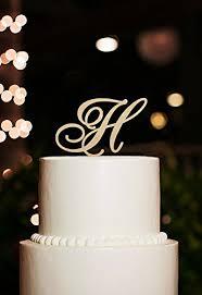 Monogram Cake Topper Letter H For Wedding C