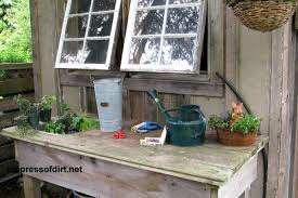 Shed Bench by Potting Bench Idea Gallery Empress Of Dirt