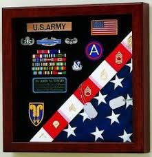 Burial Flag Medals Display Case American Made