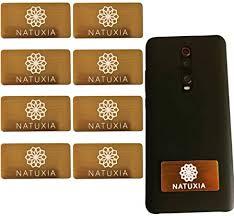 natuxia strahlenschutz handy aufkleber strahlung abschirmung elektrosmog neutralisierer für wlan laptop handy 8 pack