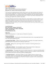 Resume Examples Key Skills ResumeExamples