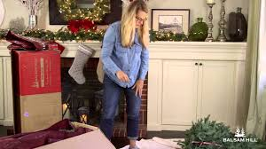 Upright Christmas Tree Storage Bag by Storing A Large Christmas Tree From Balsam Hill Youtube