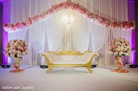 Astonishing Indian Wedding Reception Stage Decor In Aberdeen NJ By Jashim Jalal Studios