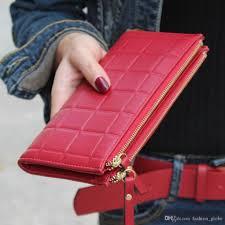 fashion globe women leather clutch wallet long card holder case