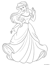 Ariel And Horse Coloring Page Motif Personnage Coloriage