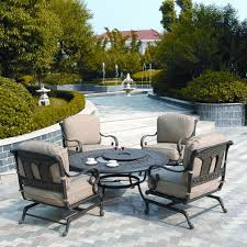 Sams Club Patio Set With Fire Pit by Fire Pit Dining Table Set Design And Ideas