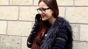 95 romanian girls black long leather gloves paris fashion week