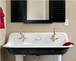 Trough Sink With Two Faucets sink faucet design precious design trough sinks bathroom white