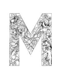 8 Best Images Of Printable Letters Coloring Pages Adults