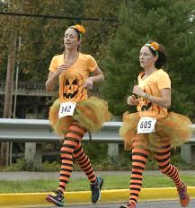 The Runaway Pumpkin by Runners Walkers Get Into Halloween Mood At Runaway Pumpkin Half