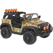 100 Truck Power Wheels ATV Quad Style Ride On Vehicle Toy 12V Camo 4x4 Battery