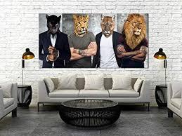 wandbilder tiere löwe tiger leopard leinwand bilder