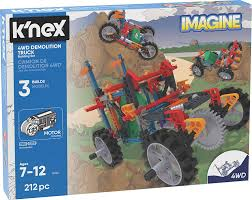 Amazon.com: K'NEX K'Nex Imagine – 4WD Demolition Truck Building Set ...