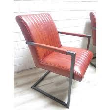 15861 stuhl esszimmerstuhl industrial design leder rotbraun