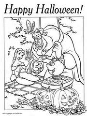 Disney Halloween Printable Coloring Pages Beauty And The Beast