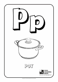 Cool Coloring Pages Alphabet Letter P Page With