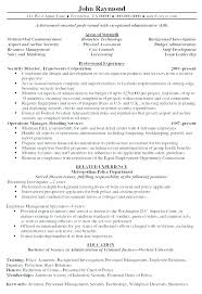 Security Manager Resume Supervisor Director Examples