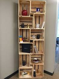 Wood Crate Shelf Diy create a bookshelf by stacking old wooden crates achieve