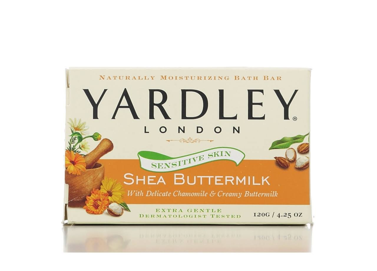 Yardley London Sensitive Skin Shea Buttermilk Bar Soap