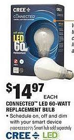 home depot black friday cree connected led 60w replacement bulb