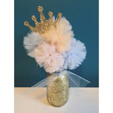 Gold Pumpkin Carriage Centerpiece by Cinderella Inspired Gold Glitter Tulle Pom By Theenchantedprincess