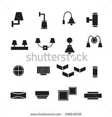 Lamp Vector Wall Decorate Icon Set