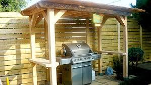 modele de barbecue exterieur construire un abri pour barbecue