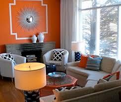 Gray And Orange Living Room peenmedia