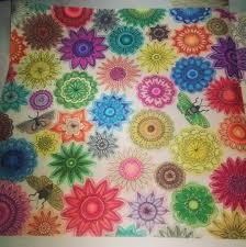 From Secret Garden Johanna Basford Crocheted Flowers Coloring Book