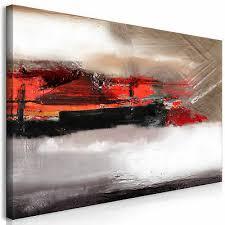 wandbilder abstrakt grau rot grün leinwand bilder