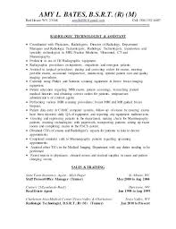 Radiology Technician Resume Tech Examples