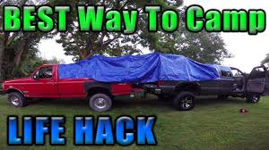 The Ultimate Truck Camping Setup! Life Hack?! - YouTube