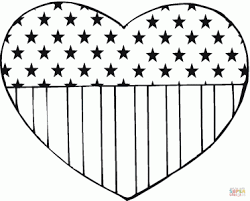 Medium Size Of Coloring Pagesstunning Heart Sheet Flag Day 11 Page Pages Stunning