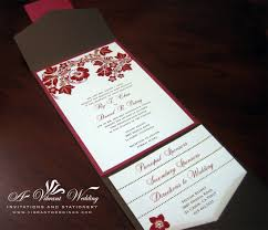 Brown And Red Fall Theme Wedding Invitation