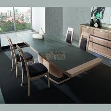 table contemporaine extensible chêne plateau céramique 10 12 couverts