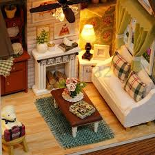 DIY Kits Wood Dollhouse Miniature House Handicraft Idea Toy