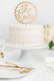 Wedding Cake Topper Custom Name Wreath Calligraphy