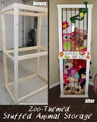 cute stuffed animal storage and organization diy idea stuffed