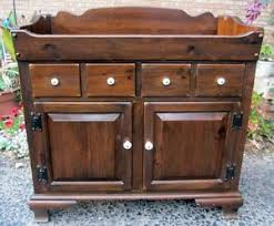 ethan allen antiqued old country tavern pine collection dry sink