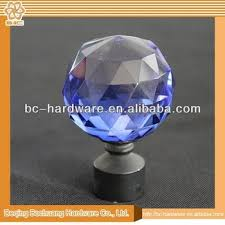 crystal glass finials for curtain rods glass curtain rod finials