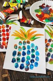 Pineapple Thumbprint Art Make A Weekend Afternoon Fun And Creative By Getting Out The Paint Trying This Project