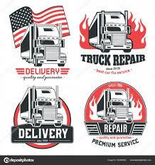 100 Big Truck Repair Truck Set Of Vector Logos Stock Vector Nesalomeya 162499092