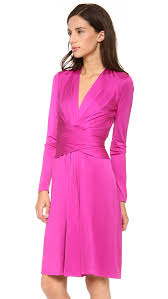 issa long sleeve wrap dress verbena in pink lyst